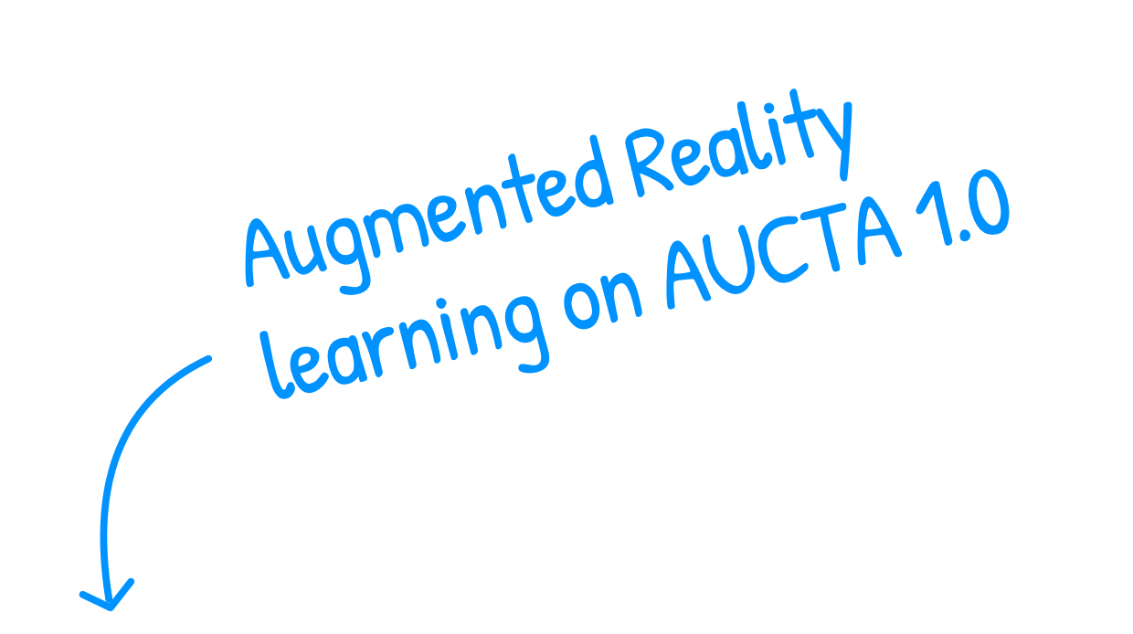 AR learning on Aucta 1.0